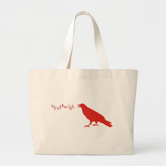 Nevermore Raven Large Tote Bag