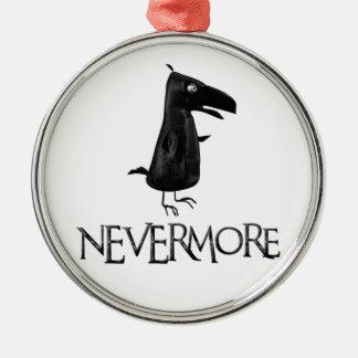 NEVERMORE Raven Metal Ornament