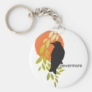 Nevermore - Raven Moon by Poe Key Chain