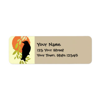 Nevermore - Raven & Moon by Poe Return Address Label