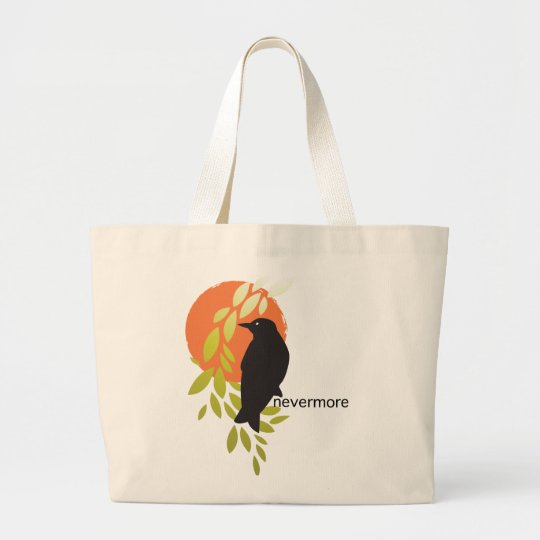 Nevermore - Raven & Moon by Poe Large Tote Bag