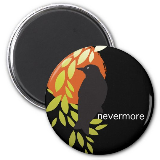 Nevermore - Raven & Moon by Poe Magnet