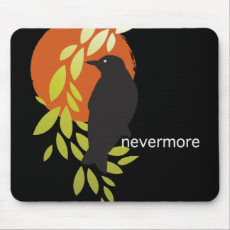Nevermore - Raven & Moon by Poe Mouse Pad