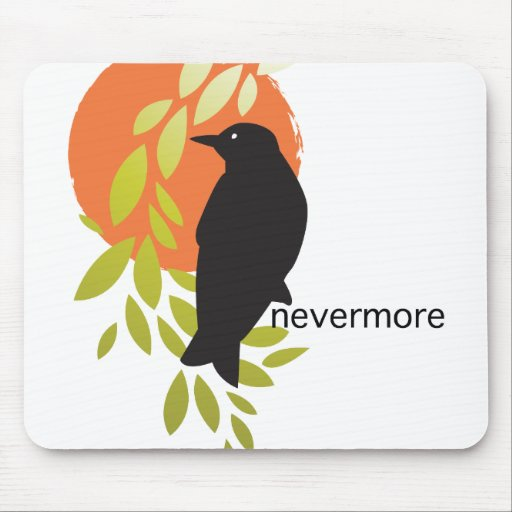 Nevermore - Raven & Moon by Poe Mousepad