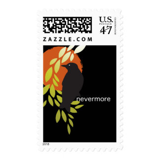 Nevermore - Raven & Moon by Poe Postage