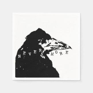 Nevermore Raven of Edgar Allan Poe Paper Napkin
