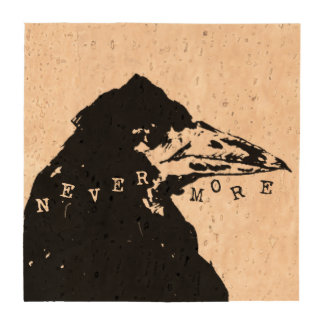 Nevermore Raven of Edgar Allan Poe Beverage Coaster