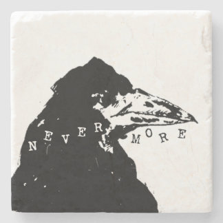 Nevermore Raven of Edgar Allan Poe Stone Coaster