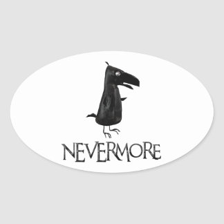 NEVERMORE Raven Oval Sticker