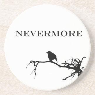 Nevermore Raven Poem Edgar Allan Poe Design Coaster