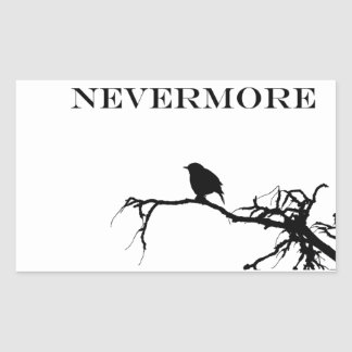 Nevermore Raven Poem Edgar Allan Poe Design Rectangular Sticker