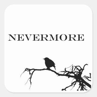 Nevermore Raven Poem Edgar Allan Poe Design Square Sticker