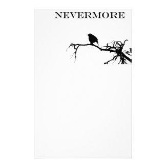 Nevermore Raven Poem Edgar Allan Poe Design Stationery