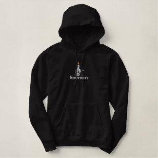 Nevermore Raven Skull & Candle Embroidered Hoodie