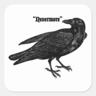 Nevermore Raven Square Sticker