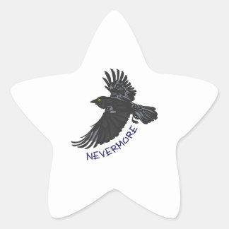 NEVERMORE RAVEN STAR STICKER