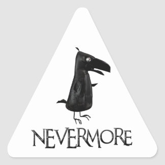 NEVERMORE Raven Triangle Sticker