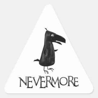 NEVERMORE Raven Triangle Sticker