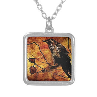Nevermore Silver Plated Necklace