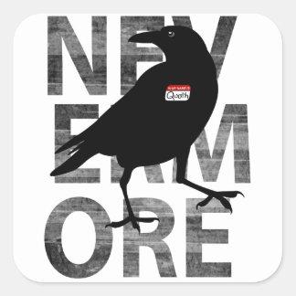 Nevermore Square Sticker