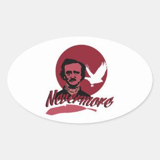 Nevermore Oval Sticker