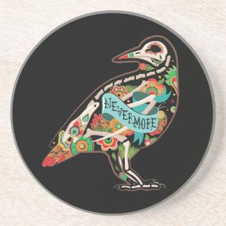 Nevermore Sugar Skull Raven Coaster