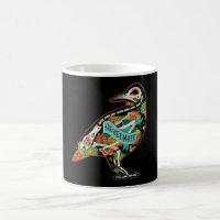 Nevermore Sugar Skull Raven Coffee Mug
