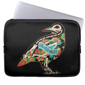 Nevermore Sugar Skull Raven Computer Sleeve