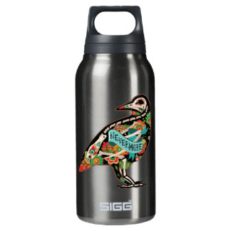 Nevermore Sugar Skull Raven Insulated Water Bottle