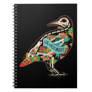 Nevermore Sugar Skull Raven Notebook