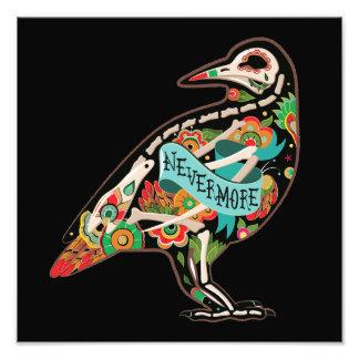 Nevermore Sugar Skull Raven Art Photo