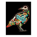 Nevermore Sugar Skull Raven Postcard