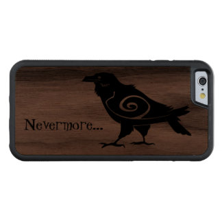 Nevermore Tribal Raven Carved Walnut iPhone 6 Bumper Case