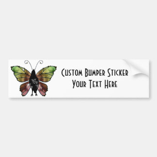 Nevermore x3 Butterfly Raven Car Bumper Sticker