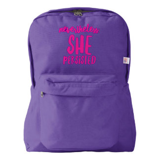 Nevertheless She Persisted Backpack