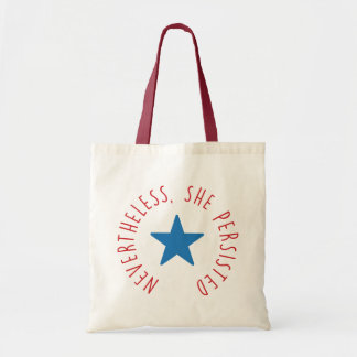 Nevertheless, She Persisted. | Blue Star Tote Bag