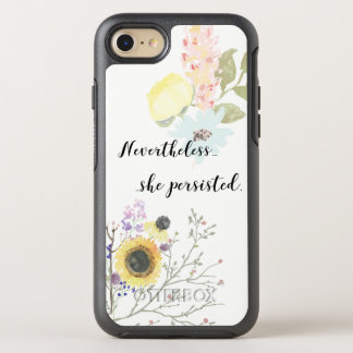 Nevertheless, she persisted Calligraphy Quote OtterBox Symmetry iPhone 8/7 Case