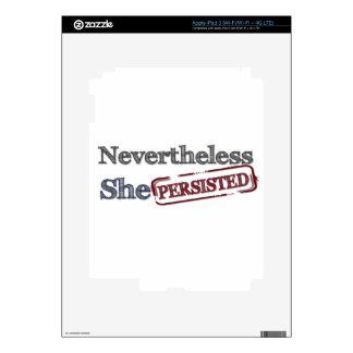 Nevertheless she persisted decal for iPad 3