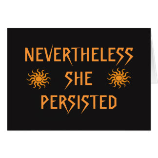 Nevertheless She Persisted Golden Sun Blank Card