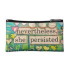 nevertheless she persisted make-up bag