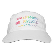 Nevertheless, She Persisted Rainbow Watercolor Headsweats Hat