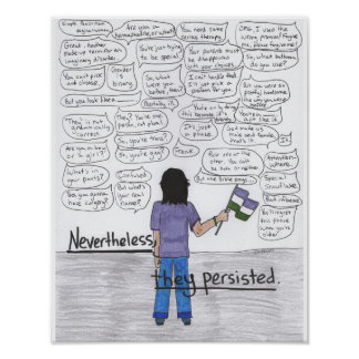 Nevertheless, They Persisted, 11x14 Poster