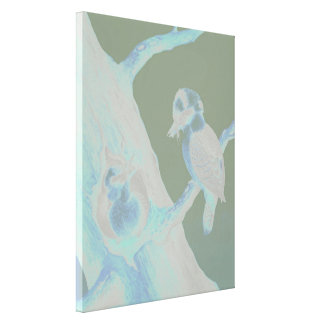 Neville HP Cayley - Laughing Kookaburra Canvas Print