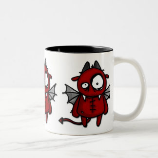 Neville the devil Two-Tone coffee mug