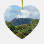 Nevis ajardina adorno navideño de cerámica en forma de corazón