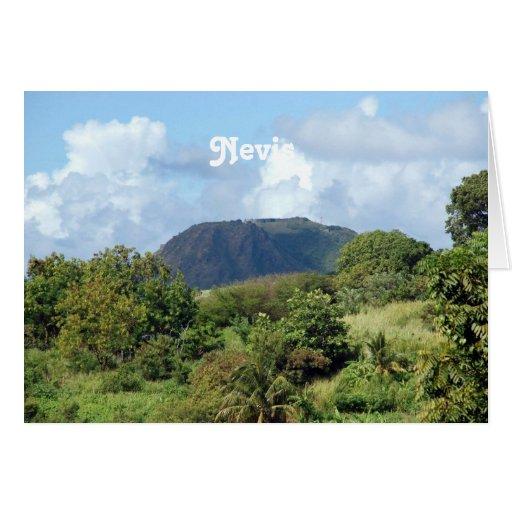 Nevis ajardina tarjeta de felicitación