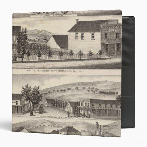 Nevis, Green residences, farms Vinyl Binder