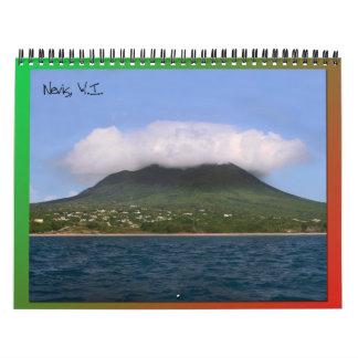 Nevis Island Caribbean Calendar