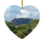 Nevis Landscape Ceramic Ornament