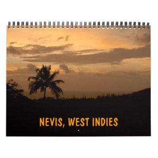 NEVIS, LAS ANTILLAS CALENDARIO DE PARED
